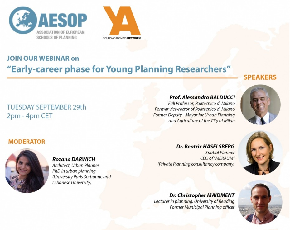 "Webinar on ""Early-career phase for young planning researchers"" image"